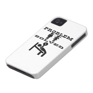 Problem Solved Weight Lifting iPhone 4 Case-Mate Case