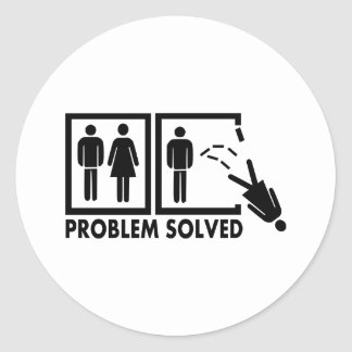 Problem solved - Woman Round Sticker