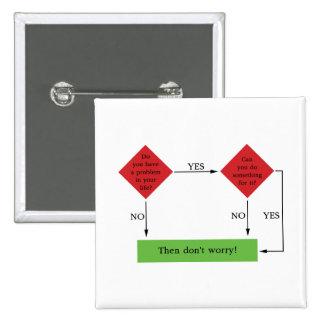 Problem solving 15 cm square badge