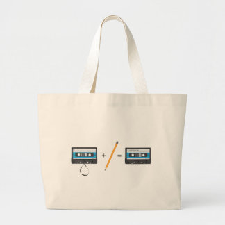 Problem-solving with compact cassette tapes. large tote bag