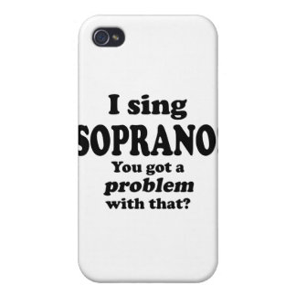 Problem With That Sing Soprano iPhone 4/4S Case