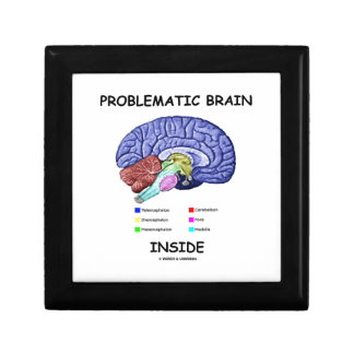 Problematic Brain Inside (Brain Anatomy) Gift Box