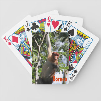 Proboscis Monkey in Borneo Rainforest Poker Deck