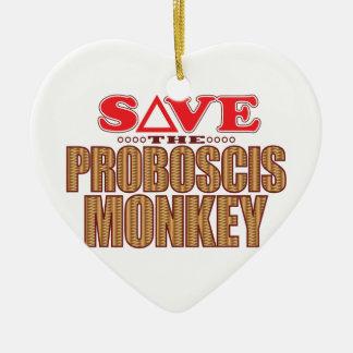 Proboscis Monkey Save Christmas Ornament