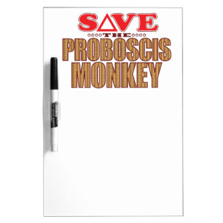 Proboscis Monkey Save Dry Erase Board