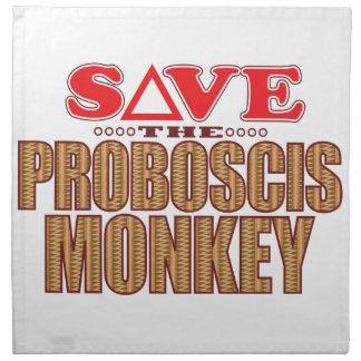 Proboscis Monkey Save Napkin