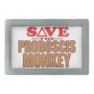 Proboscis Monkey Save Rectangular Belt Buckles