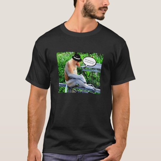 Proboscis Monkey Wearing a Hat T-Shirt