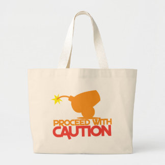 Proceed with CAUTION! bomb canon about to BLOW! Tote Bags