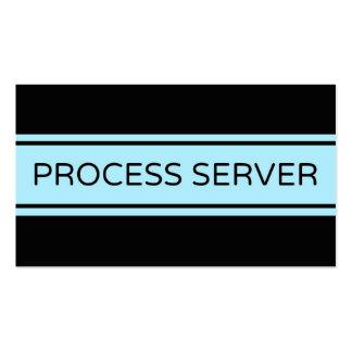 Process Server Stripe Business Card
