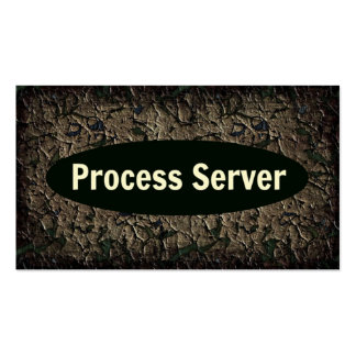 Process Server Weathered Business Card