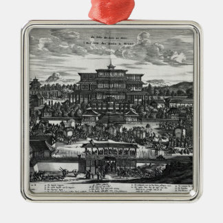 Procession from Macau, an illustration Christmas Ornament