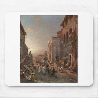 Procession in Naples by Franz Richard Unterberger Mouse Pad
