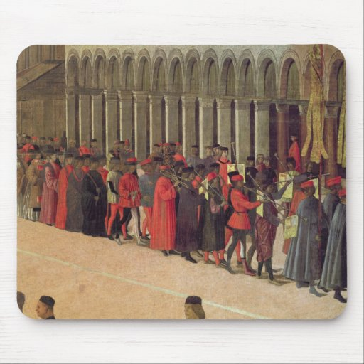 Procession in St. Mark's Square, detail of musicia Mousepad