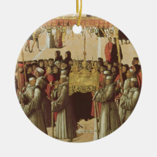 Procession in the St. Mark's Square, detail of the Round Ceramic Decoration