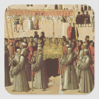 Procession in the St. Mark's Square, detail of the Square Sticker