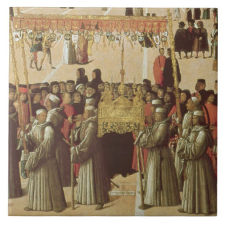 Procession in the St. Mark's Square, detail of the Tile