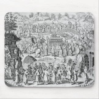 Procession of a bride going home mouse mat