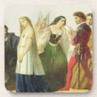 Procession of characters from Shakespeare (oil on Coaster