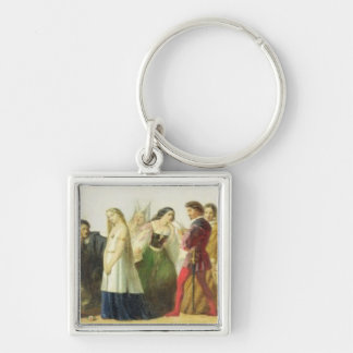 Procession of characters from Shakespeare (oil on Key Ring