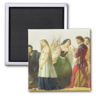 Procession of characters from Shakespeare (oil on Magnet