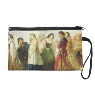 Procession of characters from Shakespeare (oil on Wristlet Purses