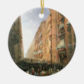 Procession of Corpus Christi in Via Dora Grossa, T Christmas Ornament