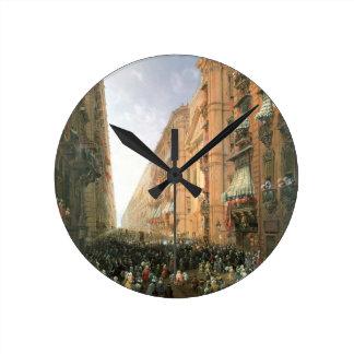 Procession of Corpus Christi in Via Dora Grossa, T Clock