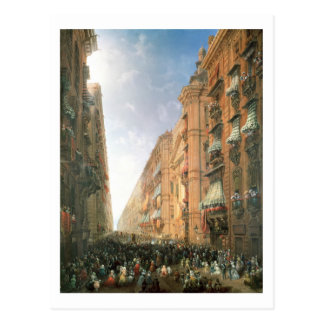 Procession of Corpus Christi in Via Dora Grossa, T Postcard