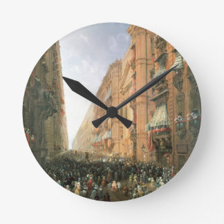 Procession of Corpus Christi in Via Dora Grossa, T Round Clock
