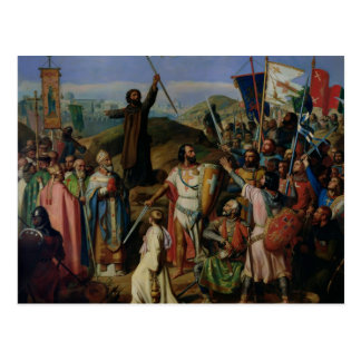 Procession of Crusaders around Jerusalem Postcard