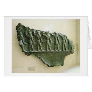 Procession of Elamite warriors, Susa, Iran, Elamit Card