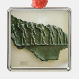 Procession of Elamite warriors, Susa, Iran, Elamit Christmas Ornament