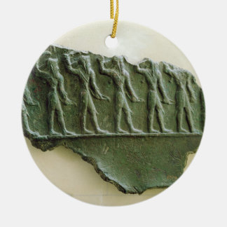 Procession of Elamite warriors, Susa, Iran, Elamit Christmas Ornament