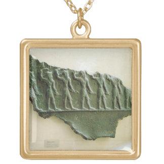 Procession of Elamite warriors, Susa, Iran, Elamit Gold Plated Necklace