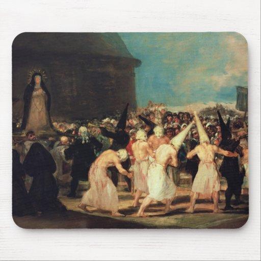 Procession of Flagellants, 1815-19 Mousepad