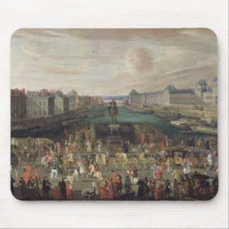 Procession of Louis XIV  Across the Pont-Neuf Mouse Pad