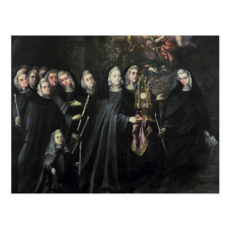 Procession of St. Clare with the Eucharist Postcard