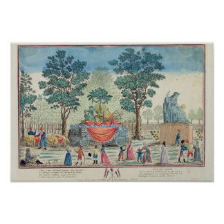 Procession of the Chariot of Agriculture Poster