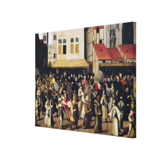 Procession of the Holy League in 1590 Canvas Print