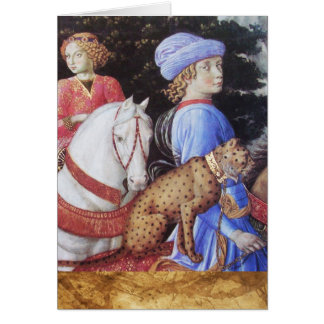 Procession of the Magus Melchior / Horse Riders Greeting Card