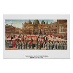 Procession Of The True Cross, By Bellini Gentile Poster