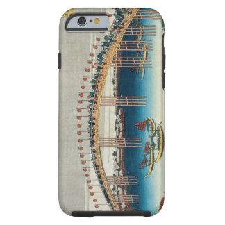 Procession over a Bridge (colour woodblock ) Tough iPhone 6 Case