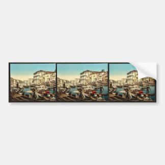Procession over the Grand Canal, Venice, Italy cla Bumper Stickers