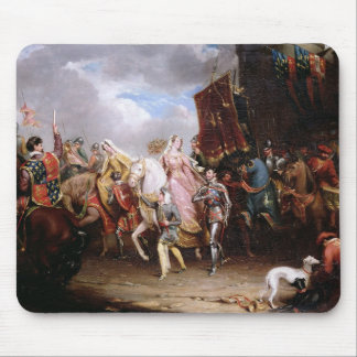Procession to the Roiall Justs Holden in Smithfiel Mouse Mat