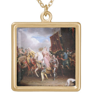 Procession to the Roiall Justs Holden in Smithfiel Square Pendant Necklace