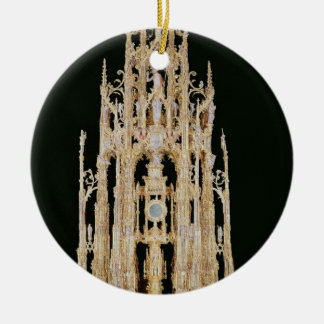 Processional Custodia, 1515-24, Containing a Monst Christmas Ornament