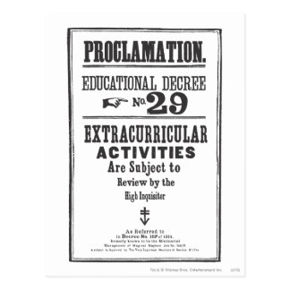 Proclamation 29 postcard