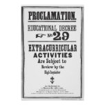 Proclamation 29 poster