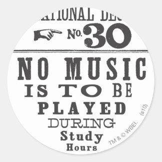 Proclamation 30 classic round sticker